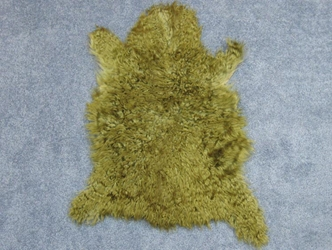Dyed Angora Goatskin: #2: Small: Green: Assorted