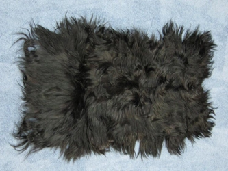 Dyed Kidassia Goatskin Plate: Dark Brown