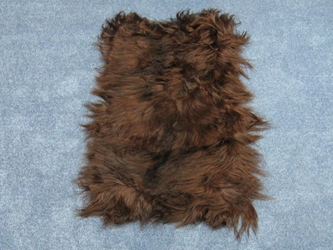 Dyed Kidassia Goatskin Plate: Chocolate Brown