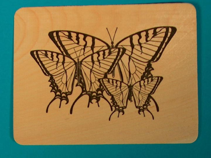 Butterfly Wooden Postcard