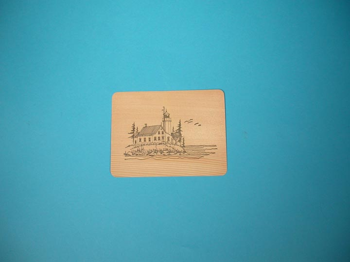Lighthouse Wooden Postcard