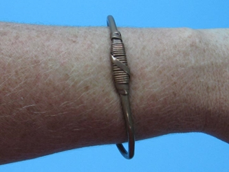 Copper Bracelet: Wire Wrapped
