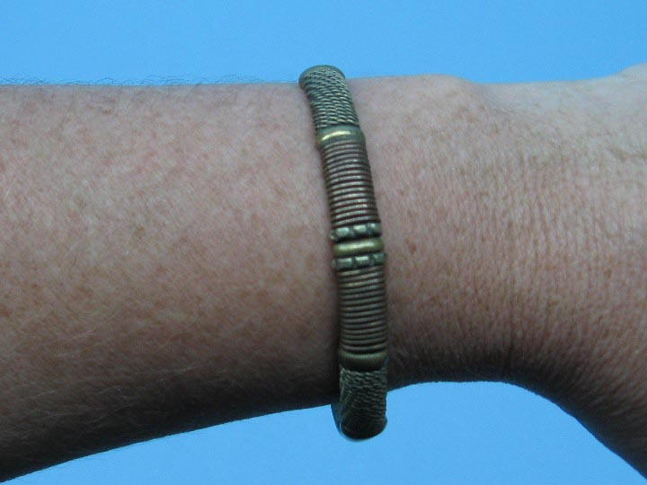 Two-Tone Copper Bracelet: Wire-Wrapped