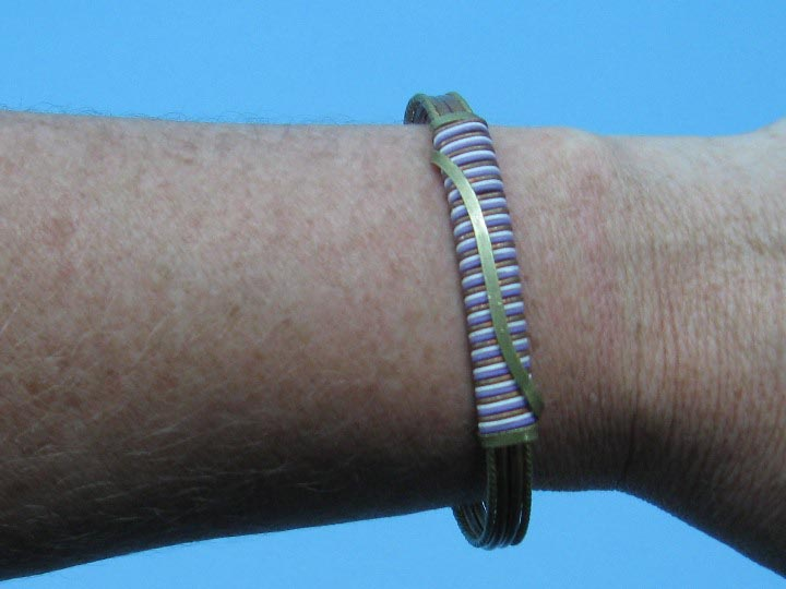 Two-Tone Copper Bracelet: Wire-Wrapped: Color