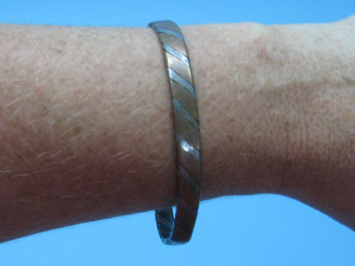 Copper Bracelet: Two-tone