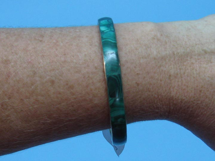 Copper Bracelet: Malachite