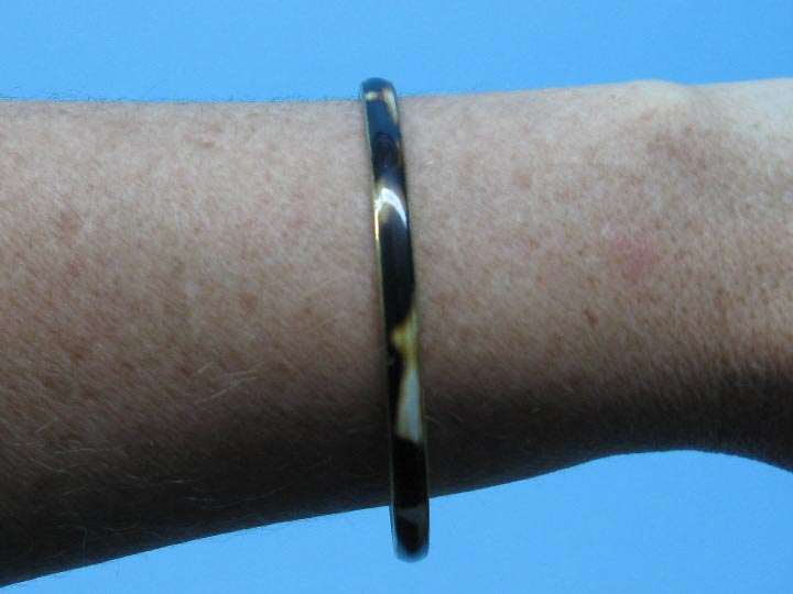 Copper or Brass Bangle: Cowhorn