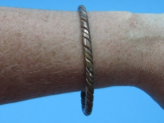 Copper Bracelet: Monotone Twisted