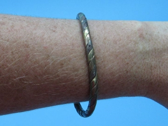 Copper Bracelet: Multicolor Twisted