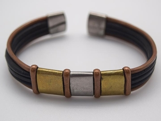Copper Bracelet: Flat Top & Wire
