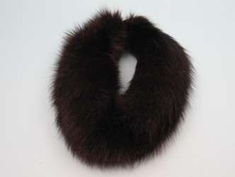 Dyed Black Fox Bandeau fox bandeaux, fox fur headbands