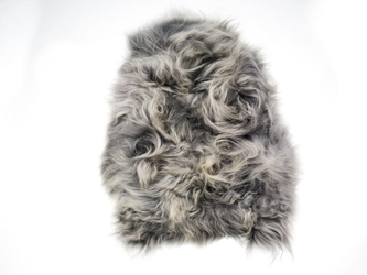 Dyed Icelandic Sheepskin: 90-100 cm: Gray: Assorted