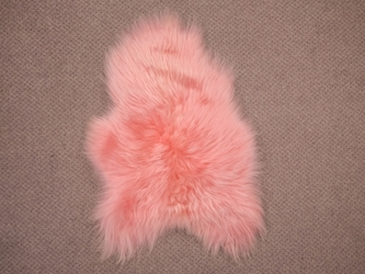 Dyed Icelandic Sheepskin: 90-100cm: Light Coral: Assorted