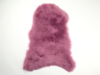 Dyed Icelandic Sheepskin: Shorn: 90-100cm: Fuchsia: Assorted