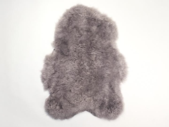 Dyed Icelandic Sheepskin: Shorn: 90-100cm: Gray: Assorted