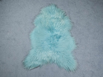 Dyed Icelandic Sheepskin: 110-120 cm: Aquamarine: Assorted