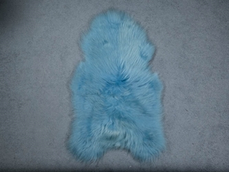 Dyed Icelandic Sheepskin: 110-120 cm: Blue: Assorted