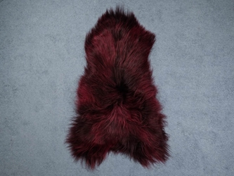 Dyed Icelandic Sheepskin: 110-120 cm: Burgundy: Assorted