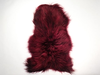 Dyed Icelandic Sheepskin: 110-120 cm: Red Wine: Assorted