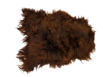Dyed Icelandic Sheepskin: Black & Rusty