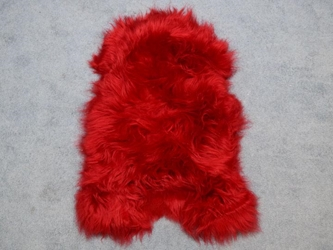 Dyed Icelandic Sheepskin: Red
