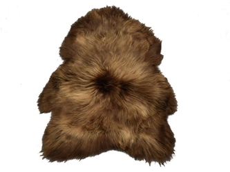 Dyed Icelandic Sheepskin: Brown & Blond
