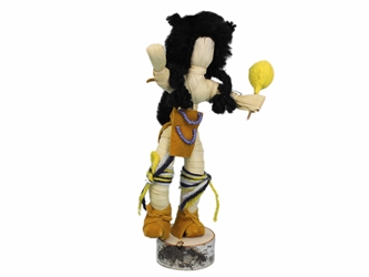 Buffalo Dancer Corn Husk Doll