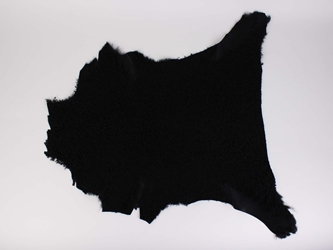 Dyed Garment Grade Broadtail Lambskin: Black Suede: Assorted