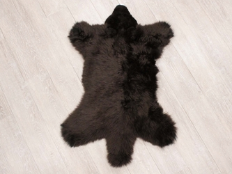 Sheepskin Teddy Bear Rug: Brown
