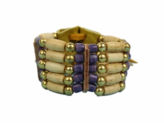 Iroquois 5-Row Cow Bone Bracelet