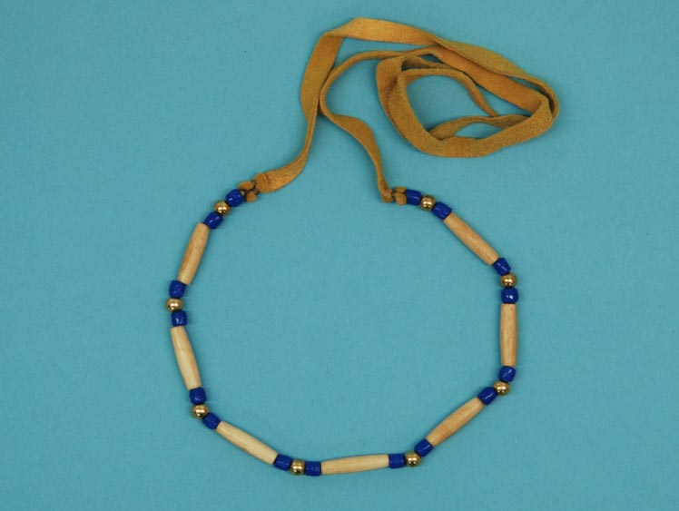 Iroquois 1-Row Cow Bone Choker