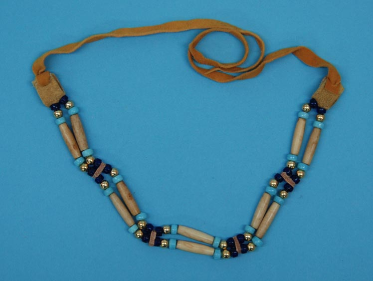 Iroquois 2-Row Cow Bone Choker