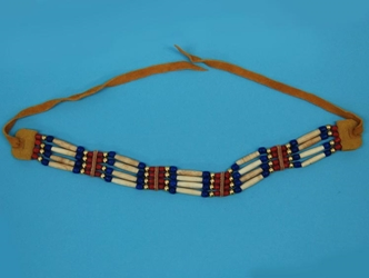 Iroquois 4-Row Cow Bone Choker