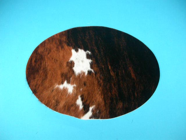 Cow Skin Placemat: Oval