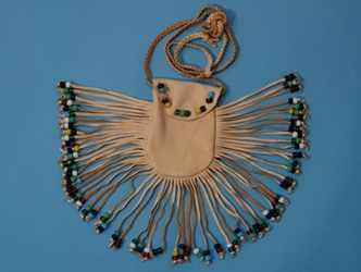 Deerskin Bead Bag