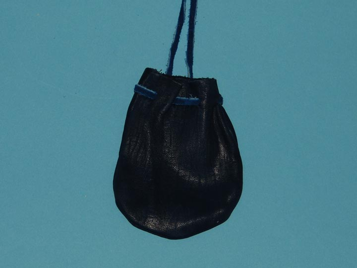Top Grain Deerskin Medicine Bag: Small: Blue