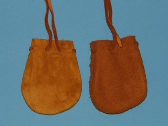 Deer Suede Medicine Bag: Small: Assorted Colors
