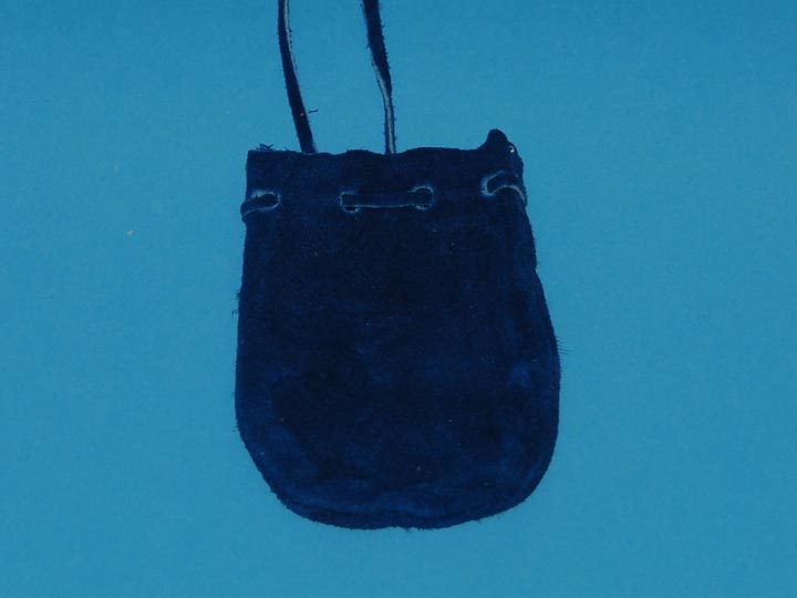 Deer Suede Medicine Bag: Small: Blue