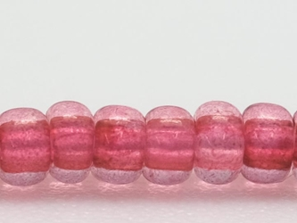 10/0 Czech Glass Seed Beads Translucent Dark Pink (Hank) glass beads