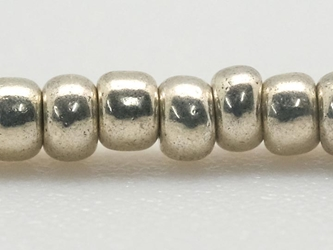 10/0 Czech Glass Seedbead Silver Metallic (500 g bag) glass beads