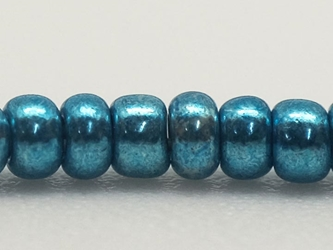 10/0 Czech Glass Seedbead Blue Metallic (500 g bag) glass beads