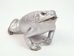 Lucky Cane Toad: Small with Coin: Silver - 1019-31S-SV (L12)
