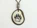 Tagua Nut Necklace: Bear Track Cut Out - 1153-NLP502 (P13)