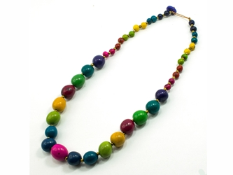 Necklace Style 4: Tagua and Acai Bead Single-Strand Necklace: Assorted Colors