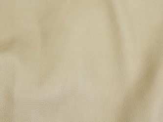 Deertanned Cow Leather: Side: Cream: 3-3.5 oz (sq ft)