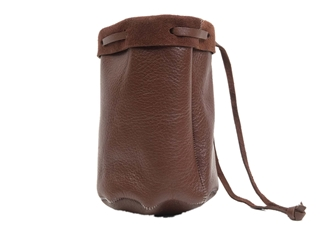 Dark Brown Leather Bullet Bag