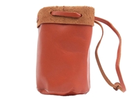 Light Brown Leather Bullet Bag