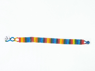 Guatemalan Beaded Bracelet: 8-Bead Multi-Color