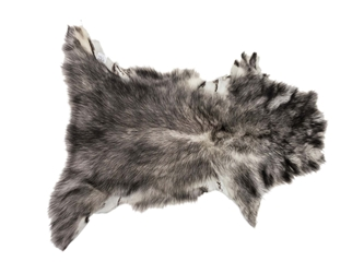 Tuscany Lamb Skin: Black Tipped: Assorted (sq ft)