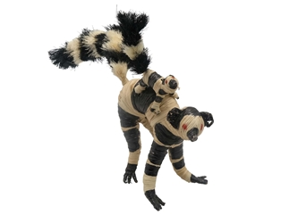 Raffia Striped Lemur Mother and Baby: Large: Assorted